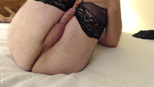 Daddy Having Fun With Thigh Highs!
