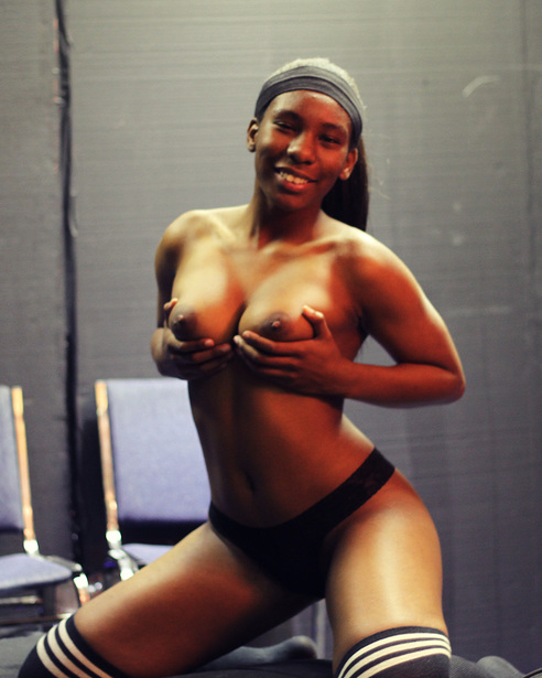 Look at these big black titties! Movie of her fucking coming soon.