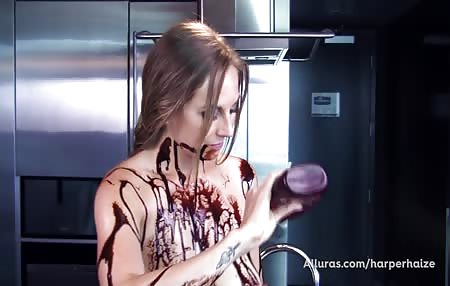 I get messy and make dessert. You want to lick it up?