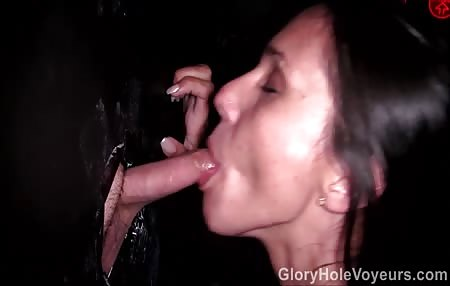 Ava Jo Gets Huge Load in Gloryhole
