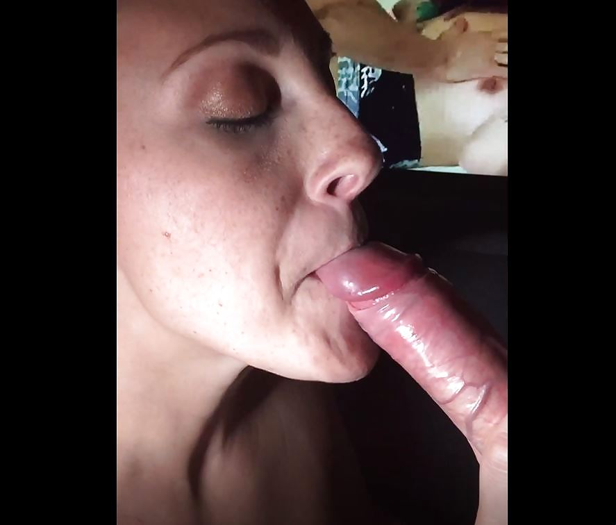 Melanie Hicks sucking a big dick and get's a nice load