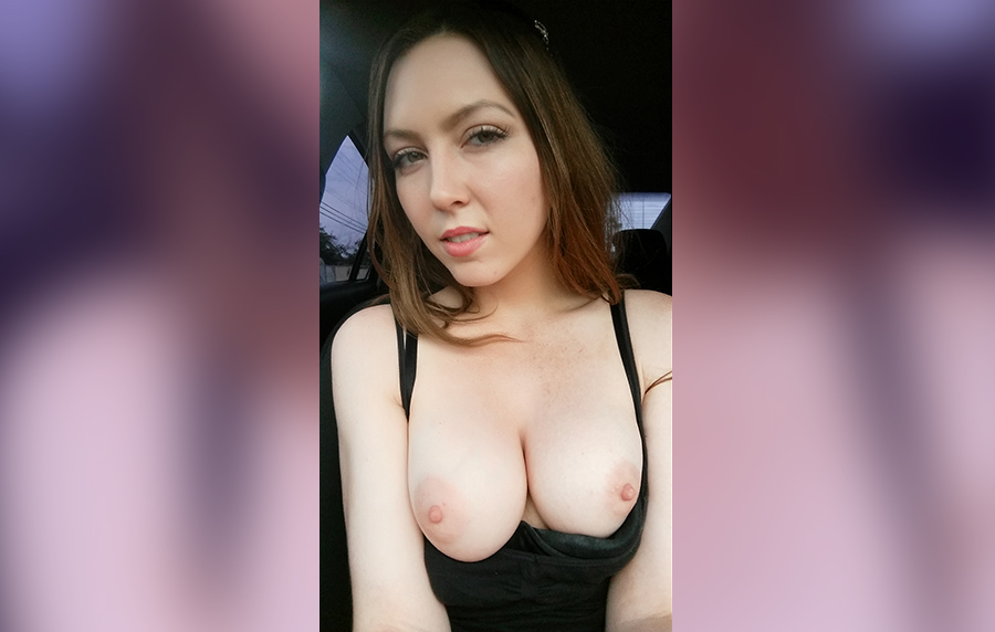 Megan get a little naughty in the car on the way home